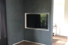 TV wand op maat
