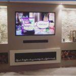 TV met haard voorzetwand